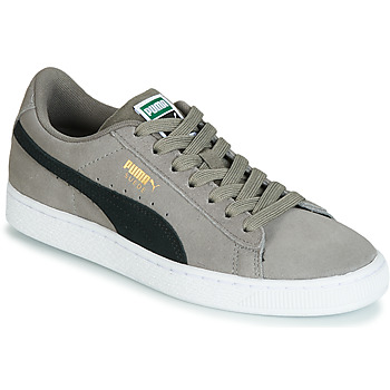 Puma JR SUEDE CLASSIC.CHARCO-BL boys's Children's Shoes (Trainers) in Grey. Sizes available:3.5 kid,4 kid,5