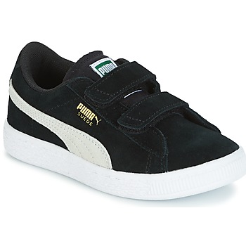 Puma SUEDE 2 STRAPS PS girls's Children's Shoes (Trainers) in Black. Sizes available:2.5 kid