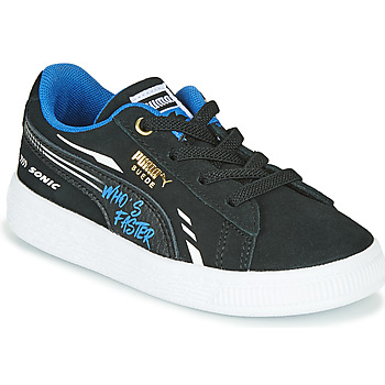 Puma SUEDE SONIC boys's Children's Shoes (Trainers) in Black. Sizes available:5 toddler,6 toddler,7 toddler
