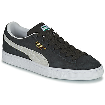 Puma SUEDE JR boys's Children's Shoes (Trainers) in Black. Sizes available:3.5 kid,4 kid,5,6