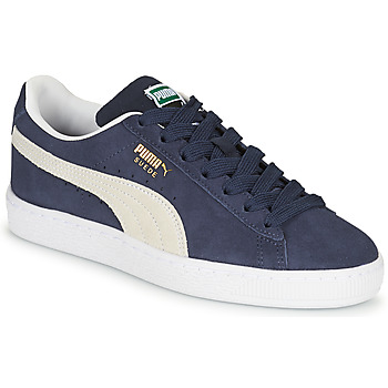 Puma SUEDE JR boys's Children's Shoes (Trainers) in Blue. Sizes available:3.5 kid,4 kid,5,6